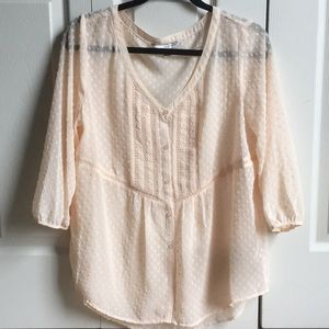Sheer Lauren Conrad blouse